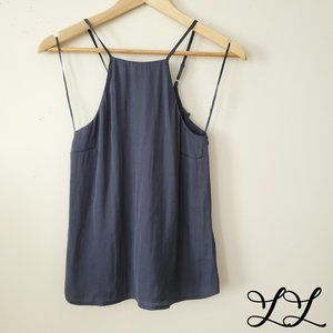 1.State Tank Top Blue Gray Halter Adjustable Strap